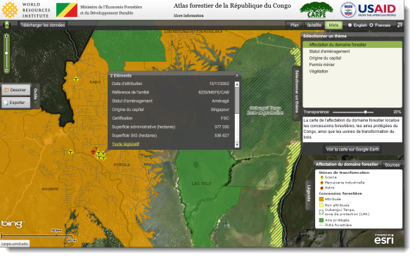 Forest Atlas of the Republic of Congo