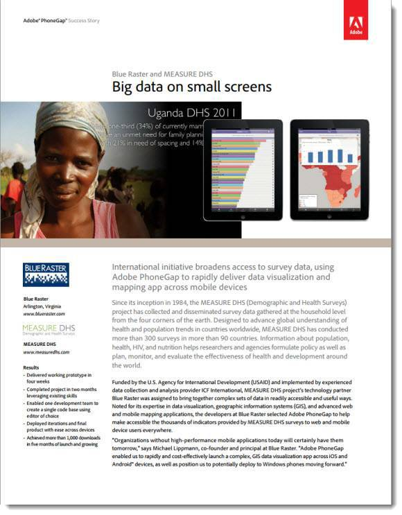 MEASURE DHS Mobile Adobe PhoneGap Success Story